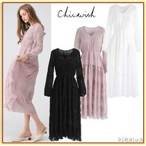 Chicwish Flared V-Neck Long Sleeves Medium Party Style Dresses