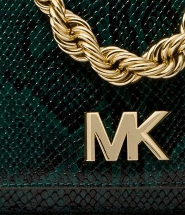 Michael Kors MOTT 2019 SS 2WAY Chain Leather Python Elegant Style Shoulder Bags