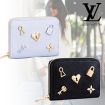 Louis Vuitton ZIPPY WALLET Heart Studded Leather Folding Wallets