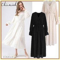 Chicwish Flared Long Sleeves Medium Party Style Lace Dresses