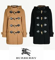Burberry Casual Style Wool Plain Medium Duffle Coats