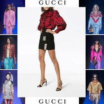 GUCCI Silk Other Animal Patterns Elegant Style Shirts & Blouses