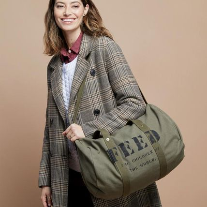 Casual Style Unisex Canvas Bags