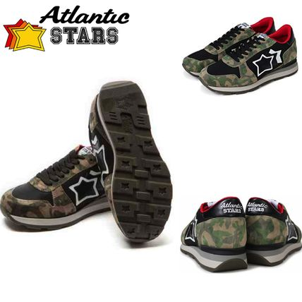 Camouflage Wedge Casual Style Suede Street Style Handmade