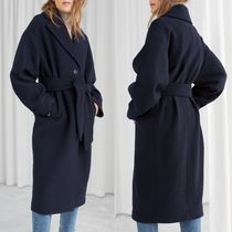 & Other Stories Casual Style Wool Plain Long Wrap Coats
