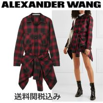 Alexander Wang Other Check Patterns Wool Long Sleeves Elegant Style