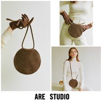 ARE STUDIO Casual Style Suede Plain Shoulder Bags