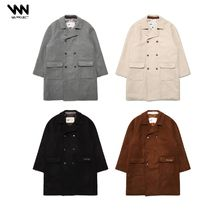 WV PROJECT Unisex Street Style Plain Long Oversized Duffle Coats