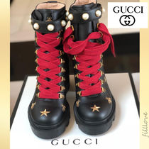 GUCCI Star Casual Style Blended Fabrics Studded Street Style Plain