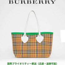 Burberry Other Check Patterns Unisex Blended Fabrics A4 Oversized