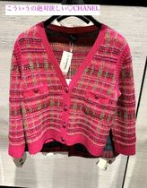 CHANEL Cashmere Long Sleeves Cashmere