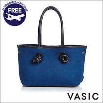 VASIC Casual Style Suede Plain Totes