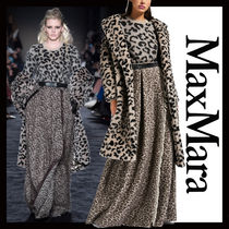 MaxMara Leopard Patterns Wool Coats