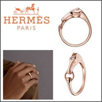 HERMES Blended Fabrics Animal With Jewels Elegant Style Rings