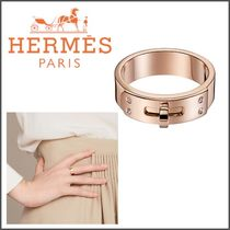 HERMES Blended Fabrics With Jewels Elegant Style Rings