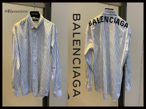 BALENCIAGA Stripes Long Sleeves Shirts & Blouses