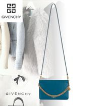 GIVENCHY Blended Fabrics 2WAY Plain Leather Shoulder Bags