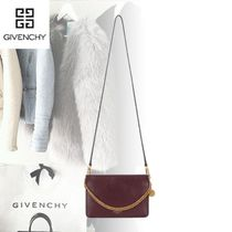 GIVENCHY Blended Fabrics 3WAY Plain Leather Shoulder Bags