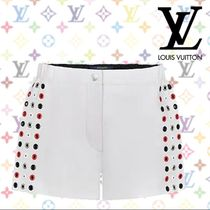 Louis Vuitton Short Casual Style Blended Fabrics Plain Leather