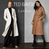TED BAKER Stand Collar Coats Cashmere Long Elegant Style Coats