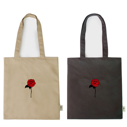 Flower Patterns Unisex Canvas A4 Plain Shoppers