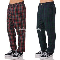 STUSSY Printed Pants Tartan Street Style Patterned Pants