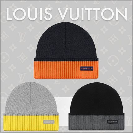 Louis Vuitton 2019 SS Blended Fabrics Knit Hats (M71237 c1406f0f654