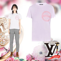 Louis Vuitton Crew Neck Street Style Cotton Short Sleeves T-Shirts
