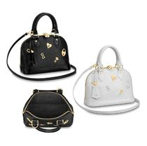 Louis Vuitton Studded 2WAY Leather Elegant Style Handbags