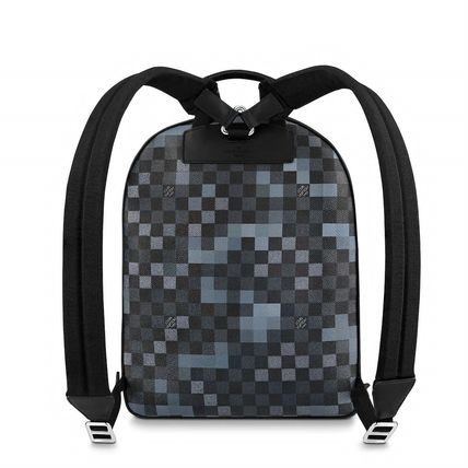 Louis Vuitton Backpacks Other Check Patterns Canvas Blended Fabrics Street Style A4 5