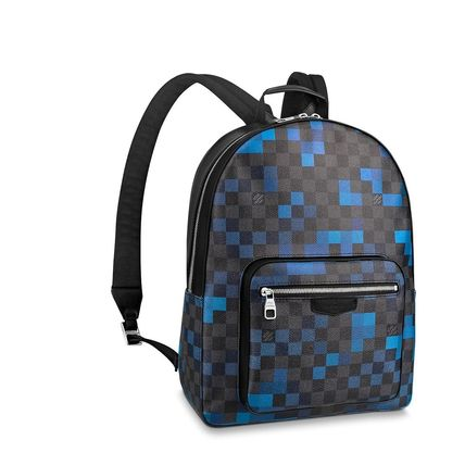 Louis Vuitton Backpacks Other Check Patterns Canvas Blended Fabrics Street Style A4 6