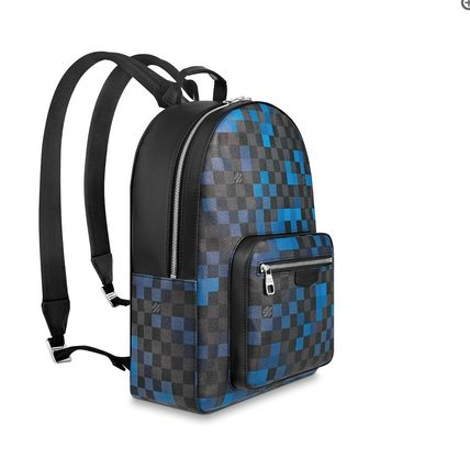 Louis Vuitton Backpacks Other Check Patterns Canvas Blended Fabrics Street Style A4 7