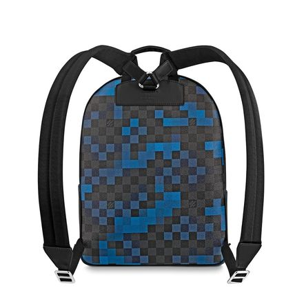 Louis Vuitton Backpacks Other Check Patterns Canvas Blended Fabrics Street Style A4 9