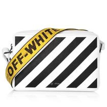 Off-White Argile Casual Style Leather Shoulder Bags