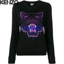 KENZO Crew Neck Long Sleeves Other Animal Patterns