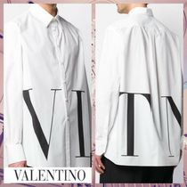 VALENTINO Button-down Street Style Long Sleeves Cotton Oversized