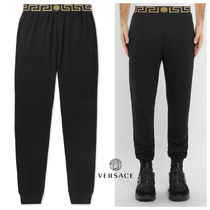 VERSACE Tapered Pants Plain Cotton Tapered Pants