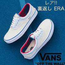 VANS ERA Blended Fabrics Street Style Bi-color Plain Leather