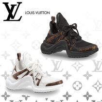 Louis Vuitton Monogram Casual Style Low-Top Sneakers