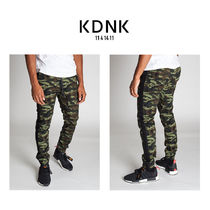 KDNK Stripes Camouflage Street Style Cotton Joggers Jeans & Denim