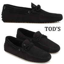 TOD'S Plain Toe Loafers Suede Plain Loafers & Slip-ons