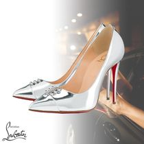 Christian Louboutin Plain Leather Pin Heels Party Style