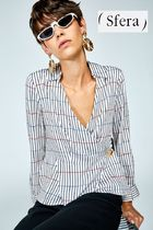 Sfera Stripes Casual Style Long Sleeves Medium Shirts & Blouses