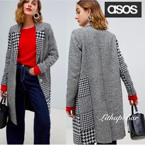 ASOS Other Check Patterns Casual Style Long Chester Coats