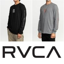 RVCA Street Style Long Sleeves Cotton Logos on the Sleeves
