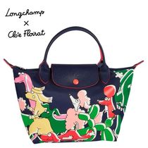 Longchamp LE PLIAGE NYLON Casual Style Nylon Collaboration Other Animal Patterns Totes