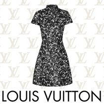 Louis Vuitton Flower Patterns Casual Style Wool Flared Medium