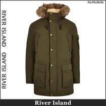 River Island Plain Long Parkas