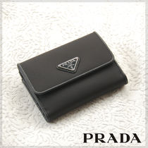 PRADA Nylon Plain Folding Wallets