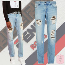 FENDI Street Style Plain Cotton Jeans & Denim